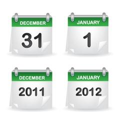 calendar green vector image vector image
