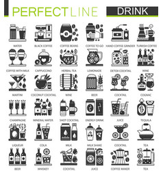 drinks and beverages classic black mini concept vector image vector image