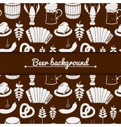 Oktoberfest monochrome background vector