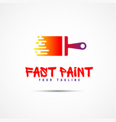 paint template logo vector image vector image