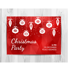 christmas party invitation card christmas party vector image vector image
