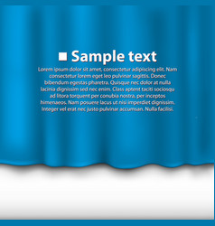 Curtain of blue color vector