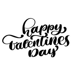 happy valentines day romantic text greeting card vector image vector image