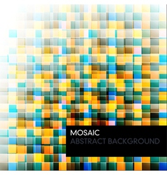 mosaic abstract color background vector image vector image