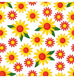 yellow flower pattern vector image