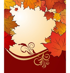 autumn floral vector image