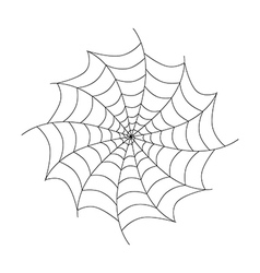 Black Cobweb Isolated on White Background vector image