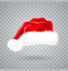christmas with red santa hat on vector image
