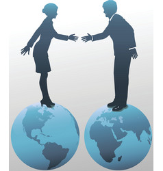 east meets west business vector image vector image