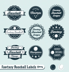 Fantasy Baseball Labels vector image vector image
