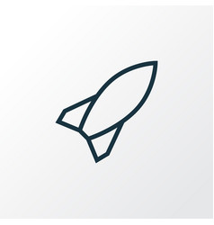 rocket outline symbol premium quality isolated vector image