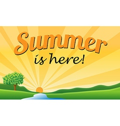 Summer text vector image