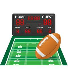 American football sports digital scoreboard vector