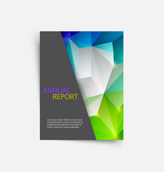cover magazine geometric shapes info-graphic for vector image vector image