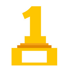 number one trophy award vector image vector image