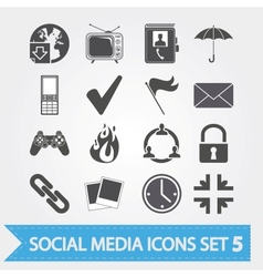 Social media icons set 5 vector image vector image