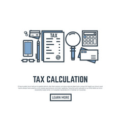 tax calculating vector image