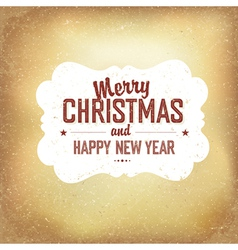 vintage xmas design on old paper background vector image vector image