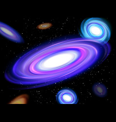 Abstract space background spiral galaxy in outer vector