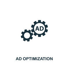 ad optimization icon premium style design from vector image