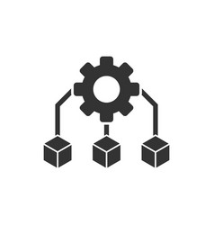 Api technology icon in flat style algorithm on vector