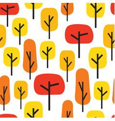Autumn trees seamless pattern vector