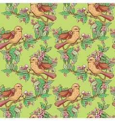 birds seamless 2 380 vector image