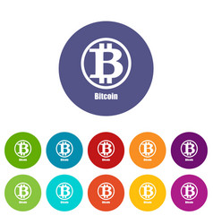 Bitcoin icon simple style vector