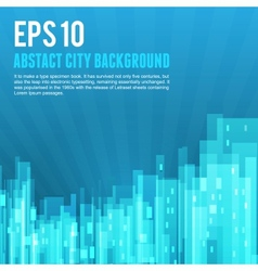 Blue city background vector image