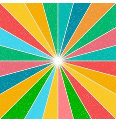 Bright rainbow background vector image