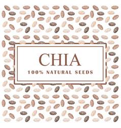chia seeds organic ingredient healthy super eco vector image