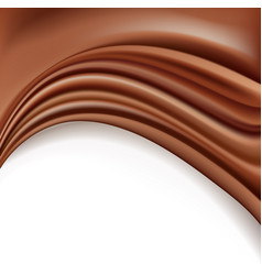 Chocolate background with soft creamy waves vector