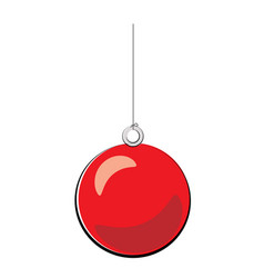 christmas ball red cartoon vector image