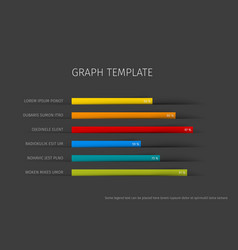 column horizontal graph template vector image