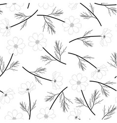 Cosmos flower outline background vector