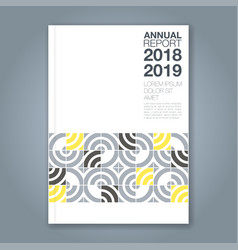 cover annual report 828 vector image
