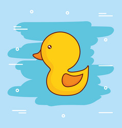 Cute duck icon image vector