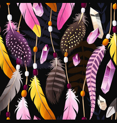 decorative feathers seamless vector image