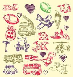 doodles set vector image