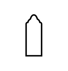 Door mosque icon design template isolated vector