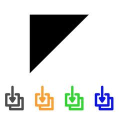 Downloads stroke icon vector