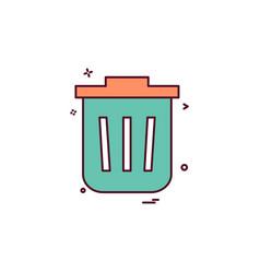 dustbin icon design vector image