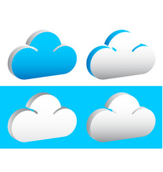Editable cloud shapes graphics eps 10 vector