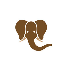 elephant icon design template isolated vector image