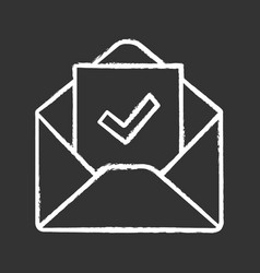 Email confirmation chalk icon vector