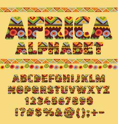 ethnic african alphabet vector image