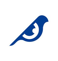 eye abstract bird logo icon vector image