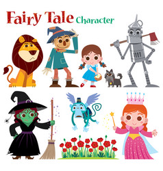 Fairy tales characters vector