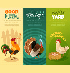 farm banners set vector image