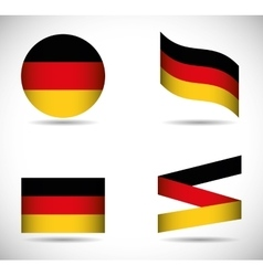 Flag icon set black red yellow Germany vector
